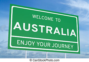 Welcome to Australia concept