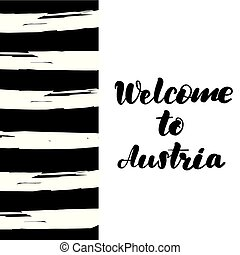 Welcome to Austria lettering card.