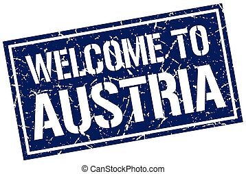 welcome to Austria stamp