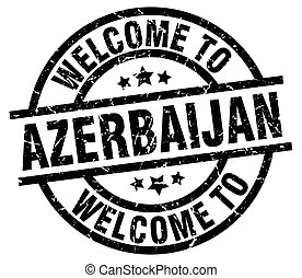 welcome to Azerbaijan black stamp