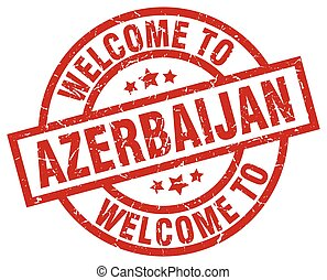 welcome to Azerbaijan red stamp