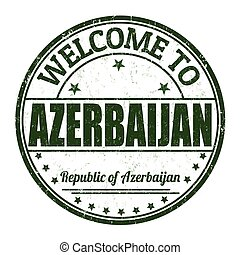 Welcome to Azerbaijan stamp