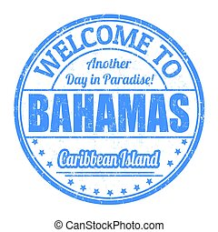 Welcome to Bahamas sign or stamp