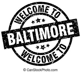 welcome to Baltimore black stamp