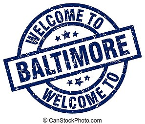 welcome to Baltimore blue stamp