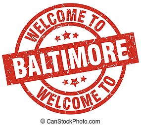 welcome to Baltimore red stamp
