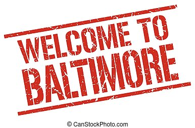 welcome to Baltimore stamp