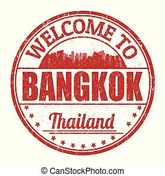 Welcome to Bangkok sign or stamp