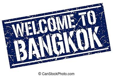 welcome to Bangkok stamp
