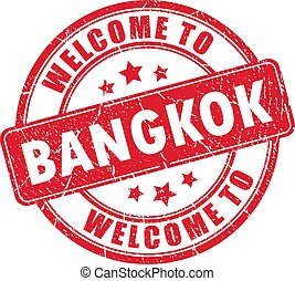 Welcome to Bangkok vector stamp