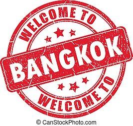 Welcome to Bangkok vector stamp