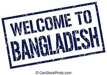 welcome to Bangladesh stamp
