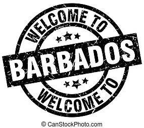 welcome to Barbados black stamp