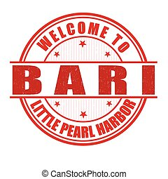 Welcome to Bari stamp