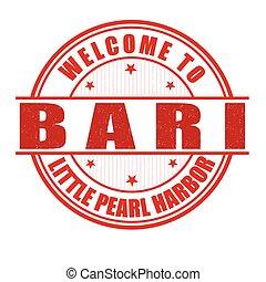 Welcome to Bari stamp