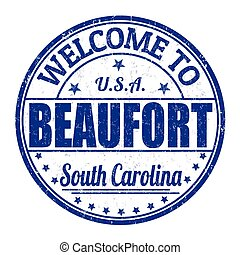 Welcome to Beaufort grunge rubber stamp on white background, vector illustration