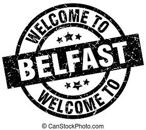 welcome to Belfast black stamp
