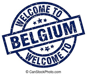 welcome to Belgium blue stamp