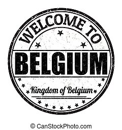 Welcome to Belgium stamp