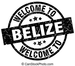 welcome to Belize black stamp