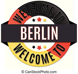 welcome to berlin germany flag icon