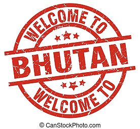 welcome to Bhutan red stamp