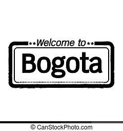 Welcome to Bogota city illustration design