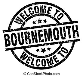 welcome to Bournemouth black stamp