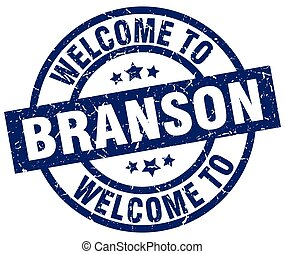 welcome to Branson blue stamp