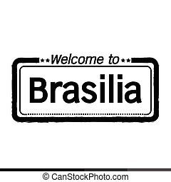 Welcome to Brasilia city illustration design