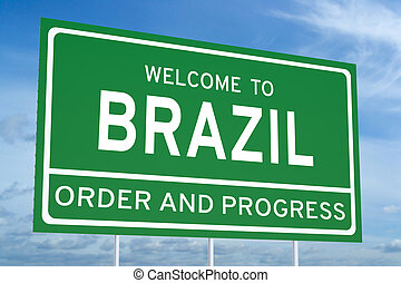 Welcome to Brazil concept