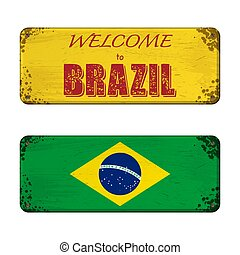 Welcome to Brazil nameplate