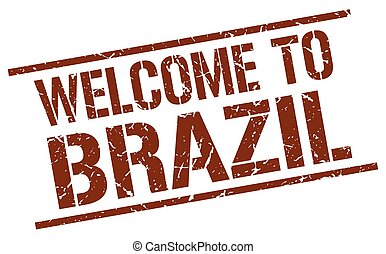 welcome to Brazil stamp
