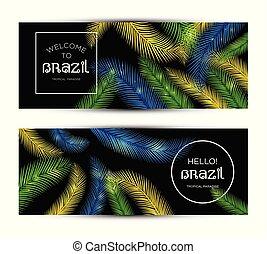 Welcome to Brazil! Vector banner set illustration of color...