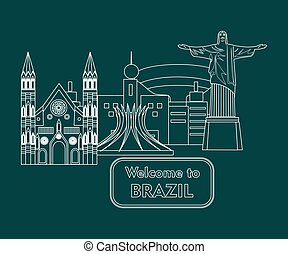 welcome to brazil white