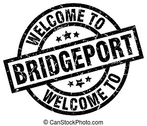 welcome to Bridgeport black stamp