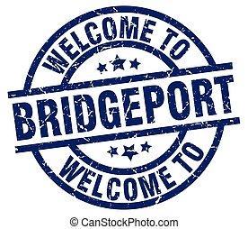 welcome to Bridgeport blue stamp