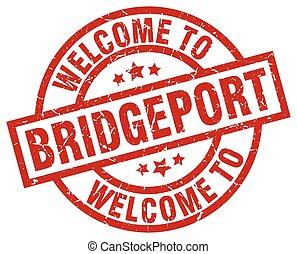 welcome to Bridgeport red stamp