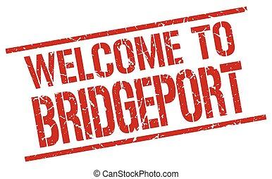 welcome to Bridgeport stamp