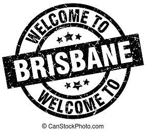 welcome to Brisbane black stamp