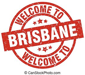 welcome to Brisbane red stamp