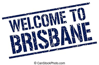 welcome to Brisbane stamp
