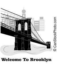 Welcome to Brooklyn - illustration in style of flat design...