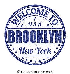 Welcome to Brooklyn stamp - Welcome to Brooklyn grunge...