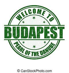 Welcome to Budapest stamp - Welcome to Budapest, Pearl of...