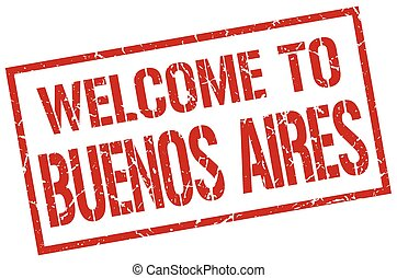 welcome to Buenos Aires stamp