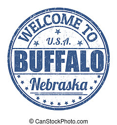Welcome to Buffalo stamp - Welcome to Buffalo grunge rubber...