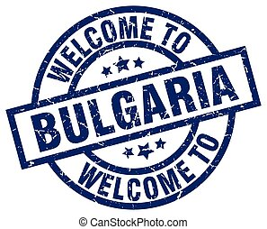 welcome to Bulgaria blue stamp