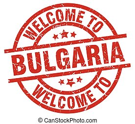 welcome to Bulgaria red stamp