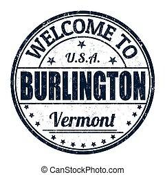 Welcome to Burlington stamp